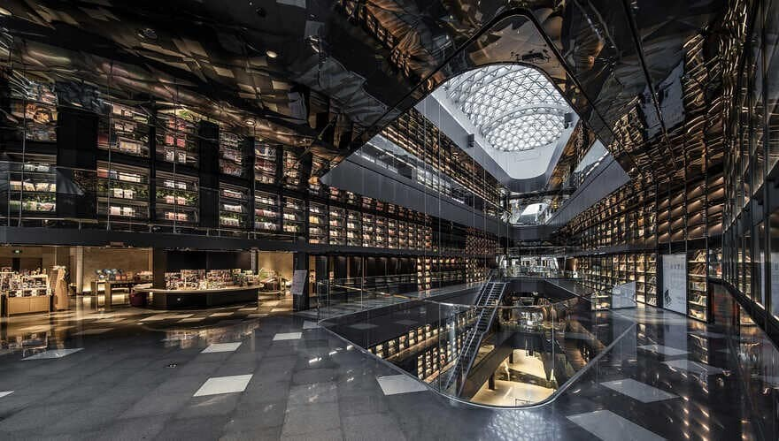 Bookstore-Themed Commercial Complex / Gonverge Interior Design