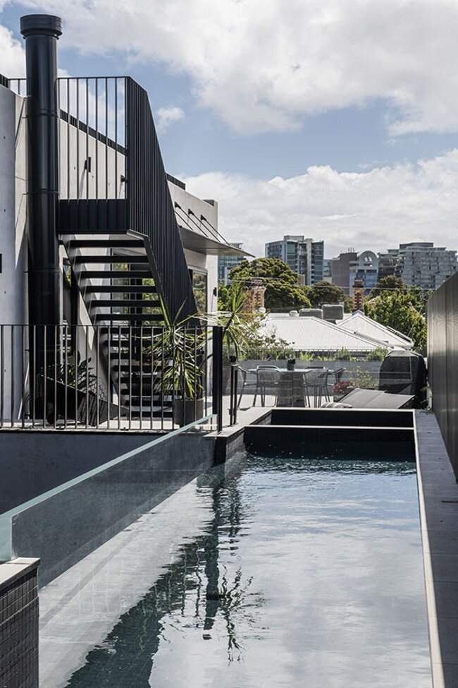 pool, a Brutalist Home in a Former Textile Factory