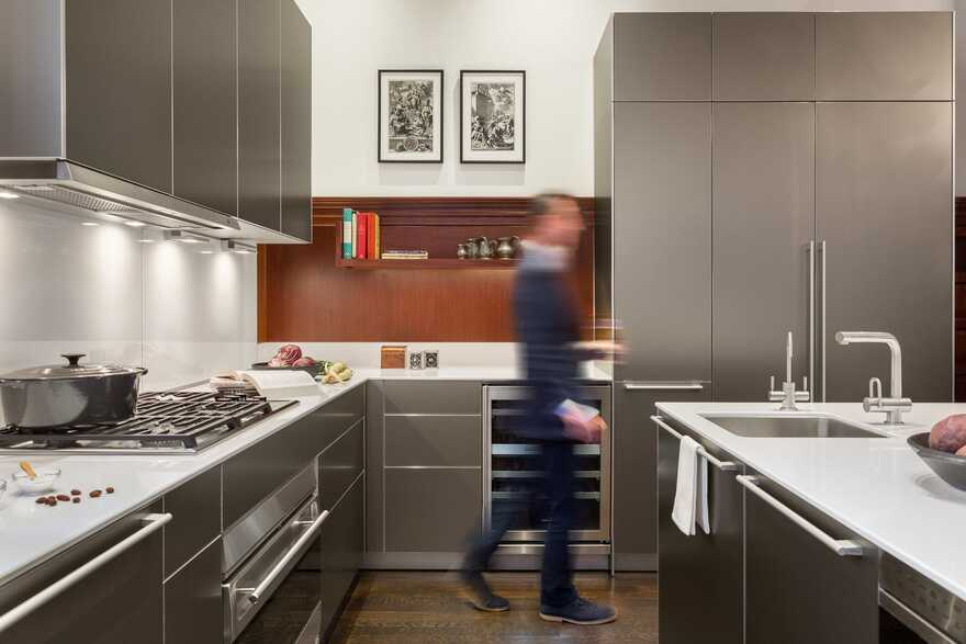 Five-Story Contemporary Townhouse in Boston Completely Renovated by Hacin + Associates