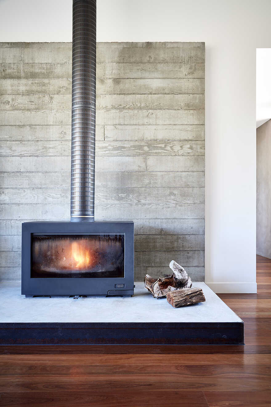 fireplace by Bryant Alsop Architects