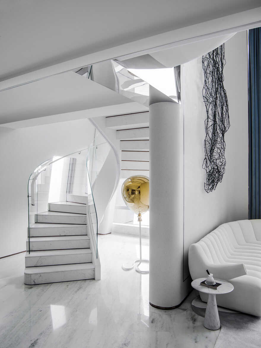 staircase by T.K. Chu Design