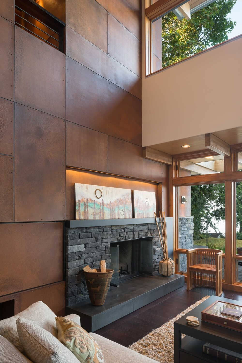living room, fireplace, Coates Design Architects