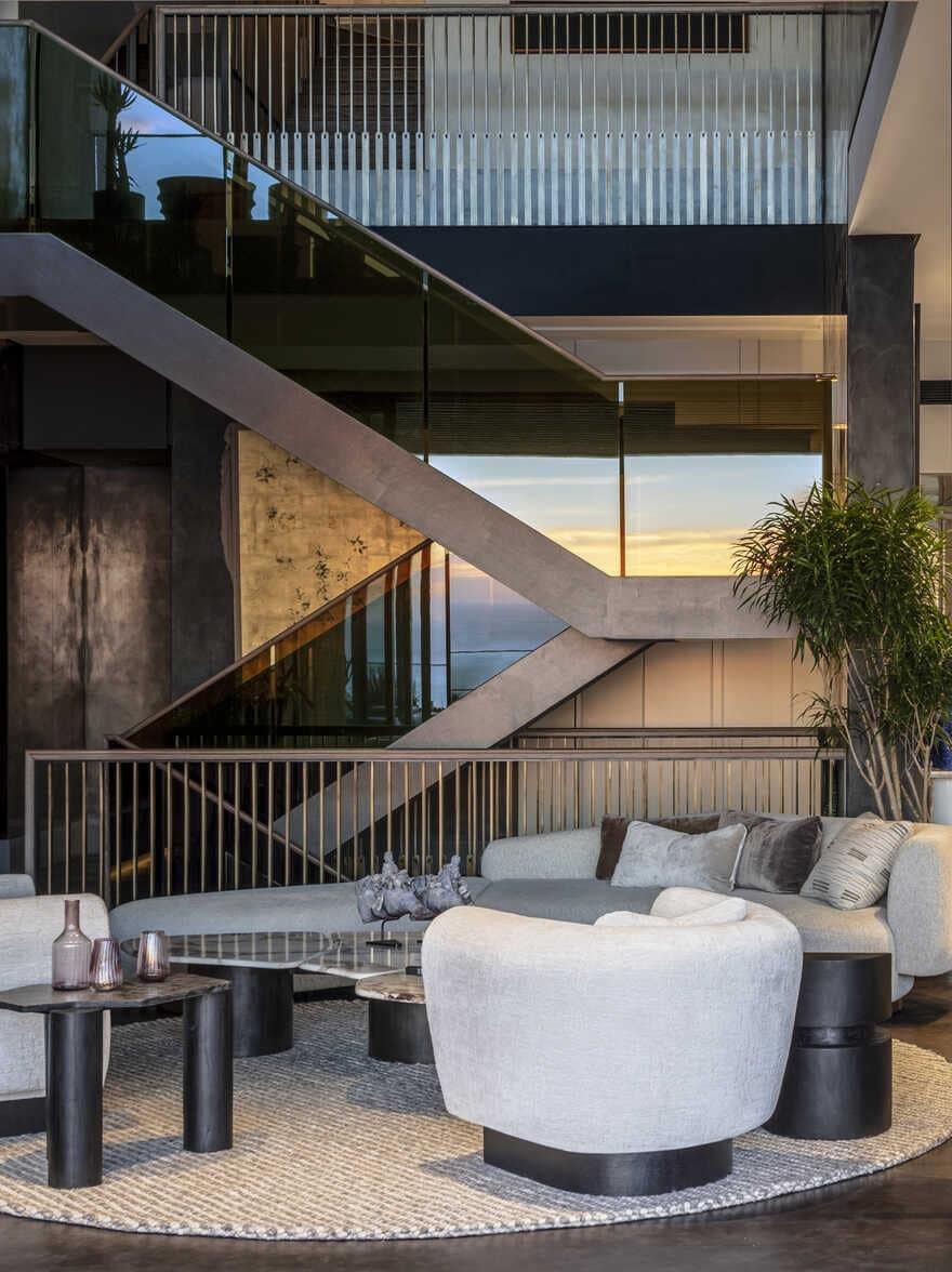 interior design, a Five-Story Penthouse in Cape Town