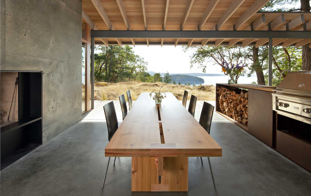 dining room, Heliotrope Architects
