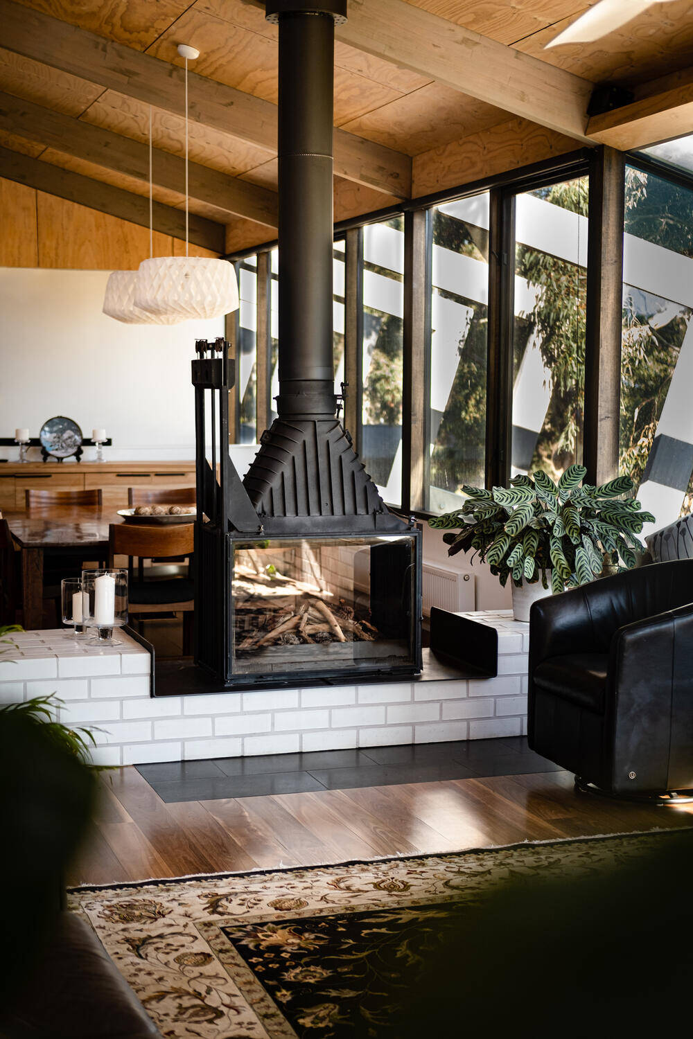 raw, industrial look, fireplace, Freehand Projects