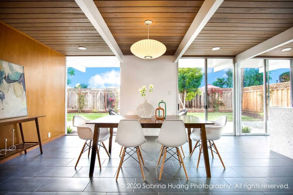 dining room by Klopf Architecture