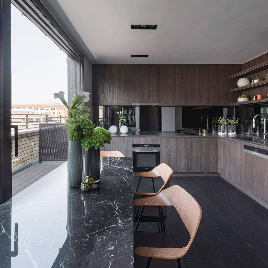 kitchen, dining room, Chris Dyson Architects