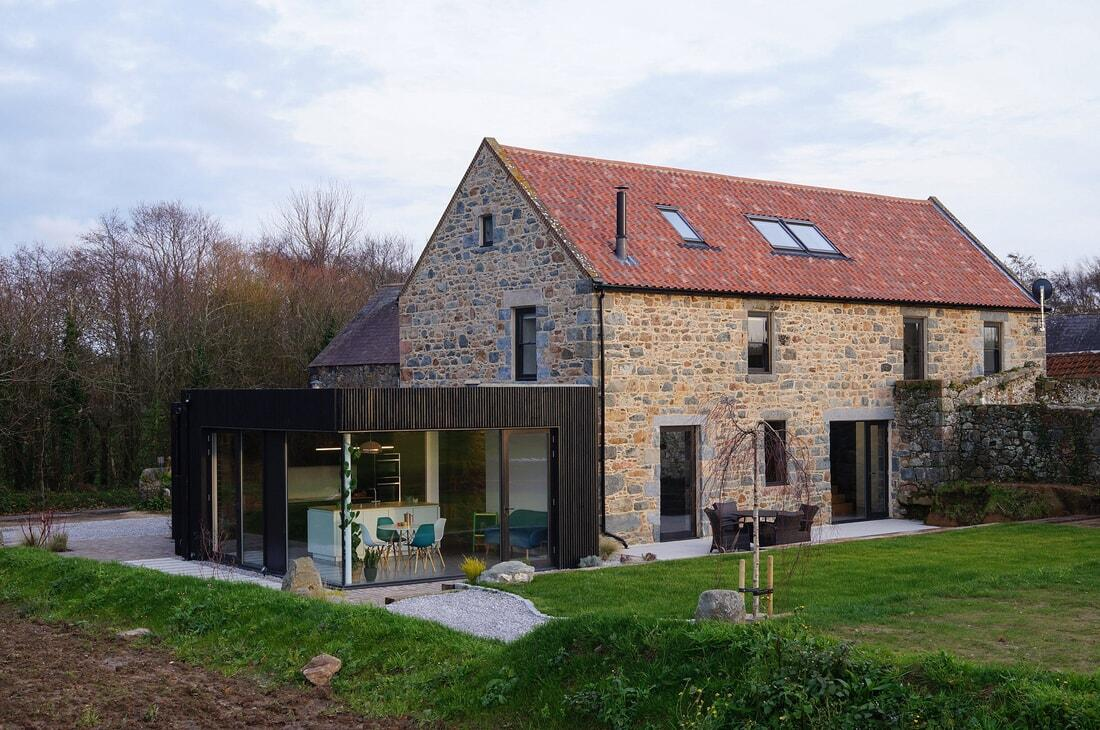 A Dilapidated Barn Converted into a Comfortable Modern Family Home