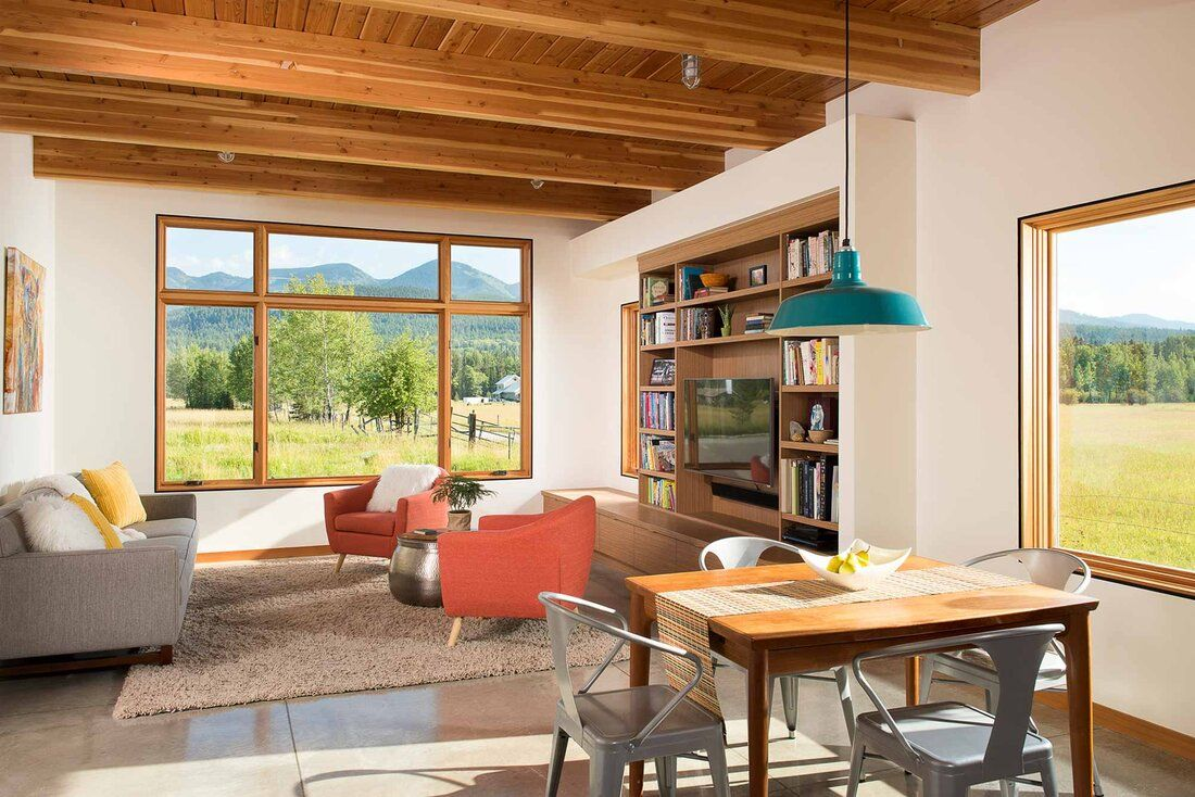 Montana Modern House by Cushing Terrell