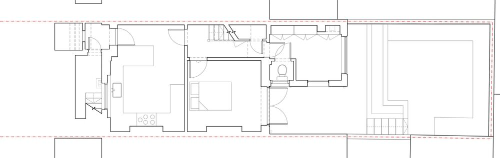 EXISTING GROUND FLOOR PLAN