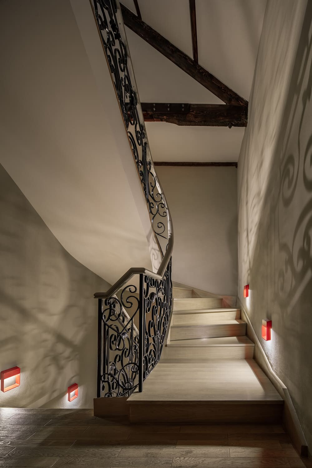 staircase, Experiential Hall in Shanghai by HONG Designworks