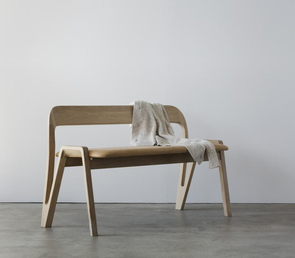 The bench is clad in aniline leather, Snøhetta & Hamran