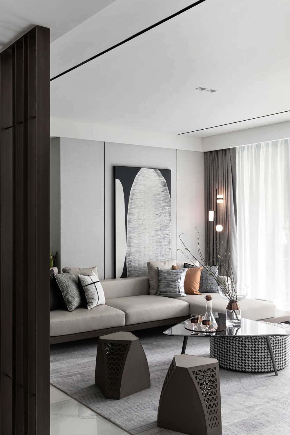 Magnificent Residence Show Flat by Qiran Design Group