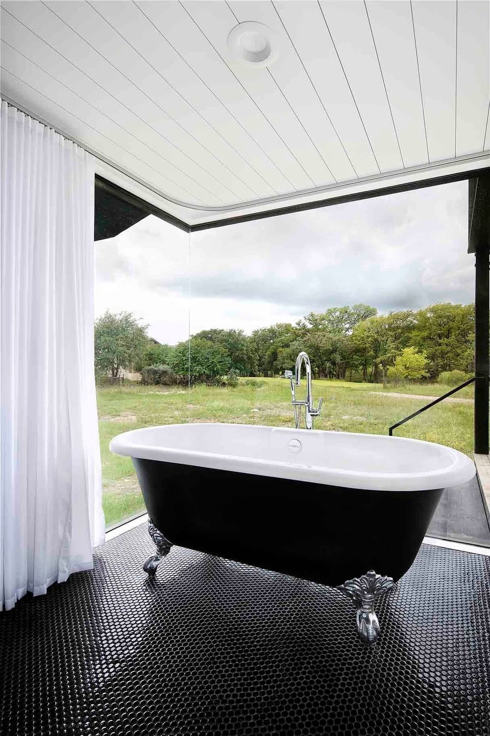bathroom, a Multi-Family Compound by Tim Cuppett Architects