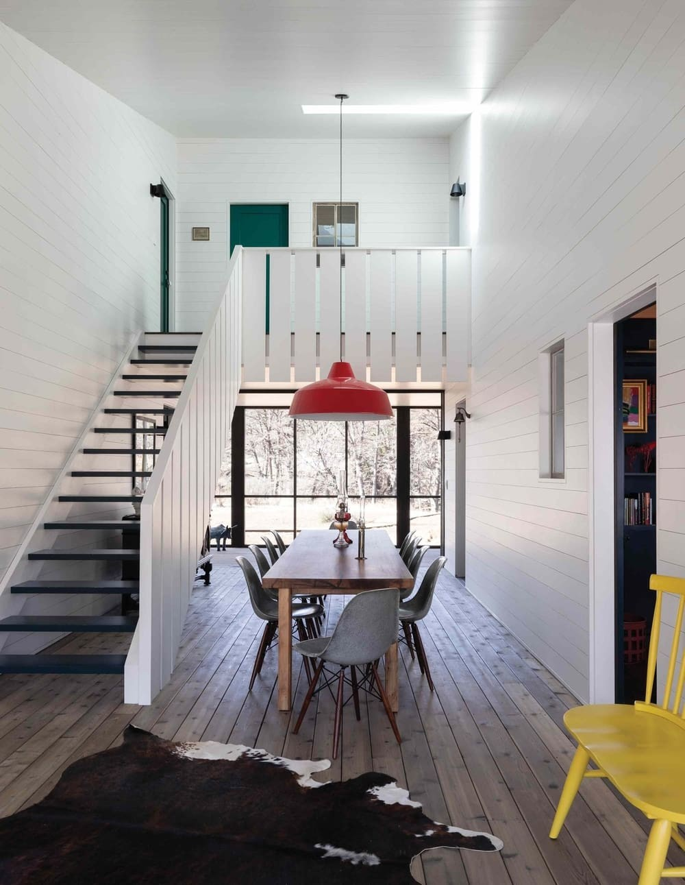 dining space, a Multi-Family Compound by Tim Cuppett Architects
