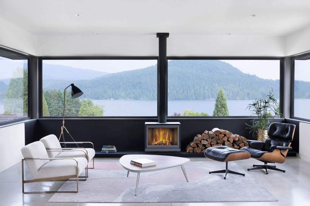 living room by D'Arcy Jones Architects