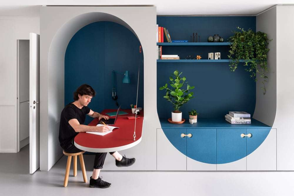 Studio Ben Allen Designed Flexible Furniture to Provide Extra Space for a London Flat