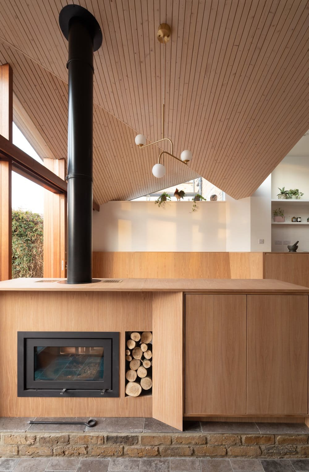 fireplace, Turner Architects