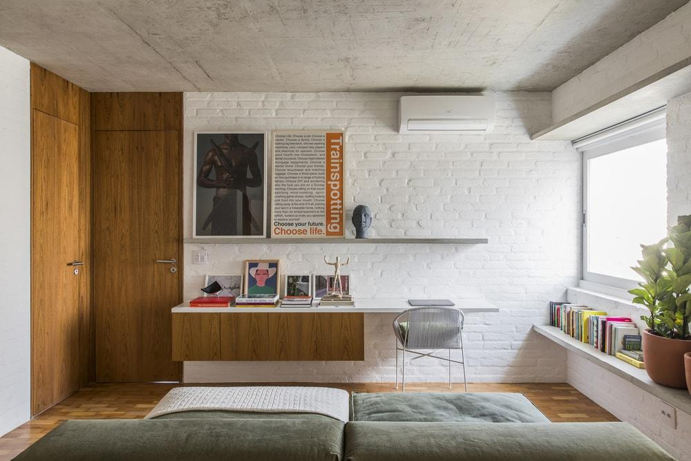 living space, home office, David Ito Arquitetura