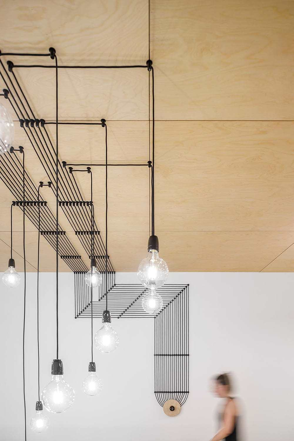 industrial style pendant lamp by Stu.dere Architect