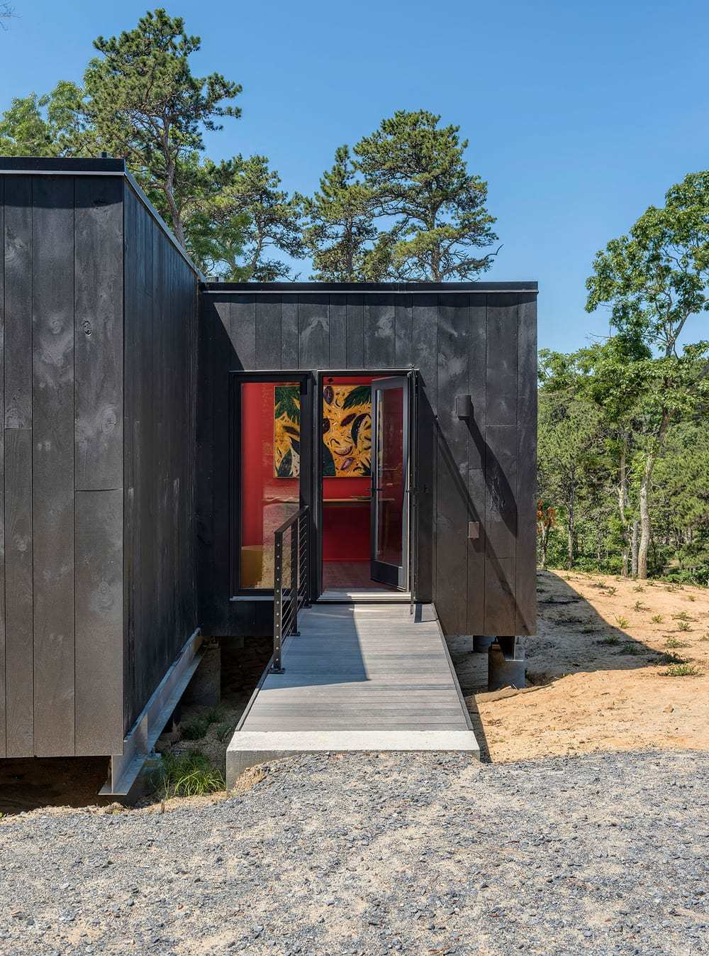 Warp House, Prefabricated Home Designed for a Retired Artist from Boston