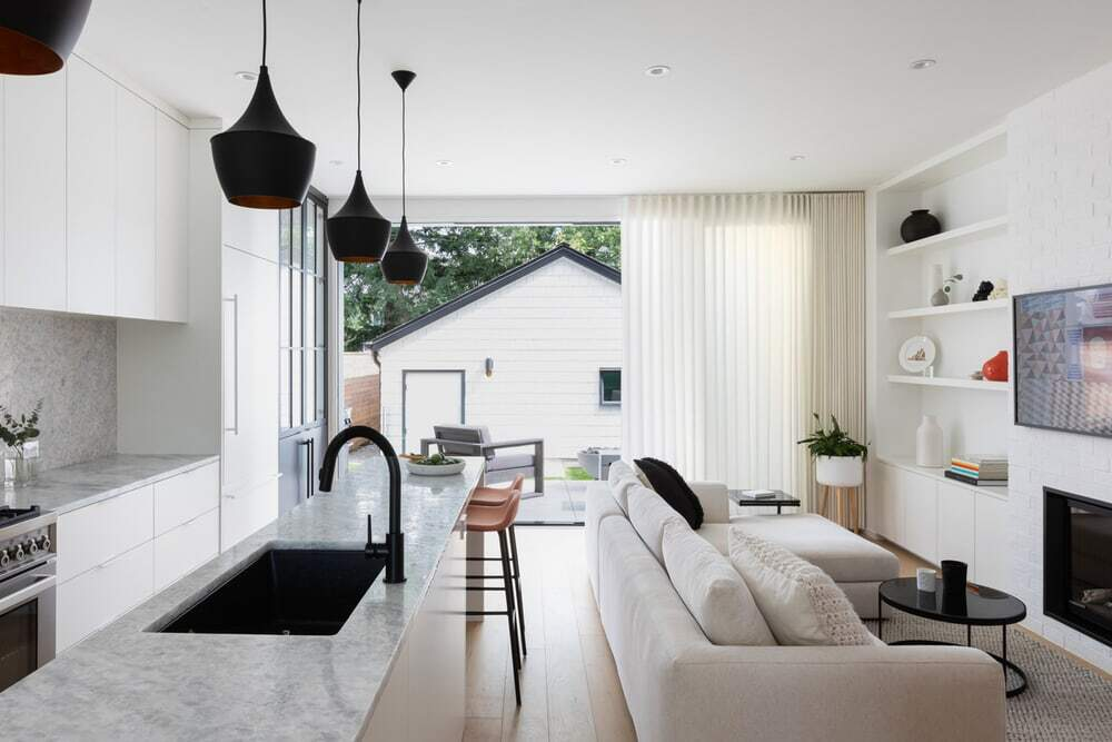 Monochromatic Home with a Clean and Minimalist Interior
