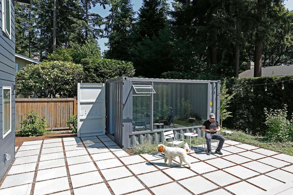 The outdoor shipping container