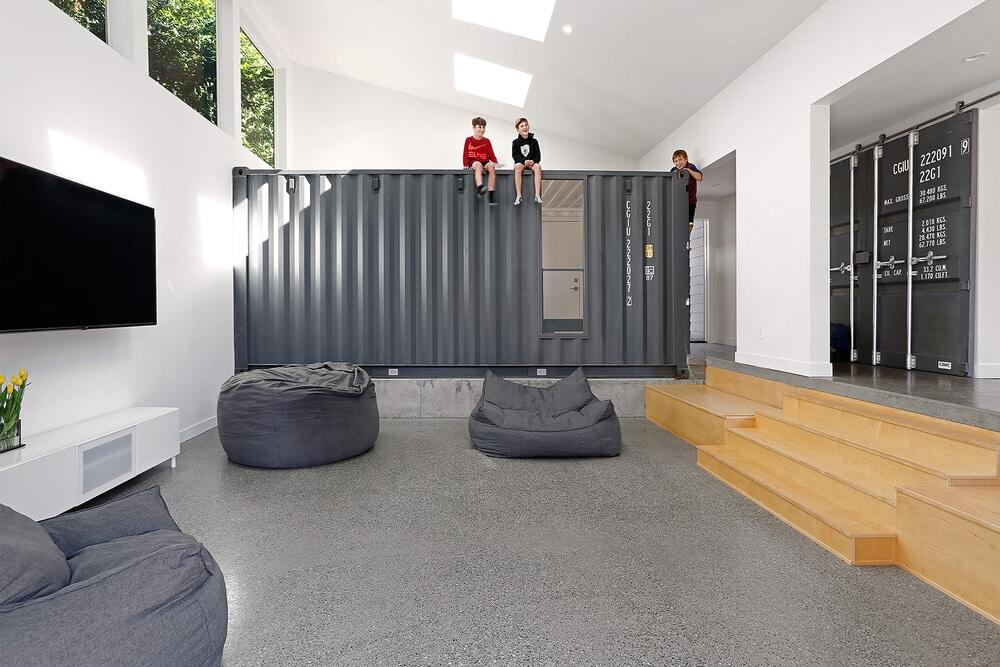 Wyss Family Container House, an Innovative Mercer Island Remodel Designed by Paul Michael Davis Architects