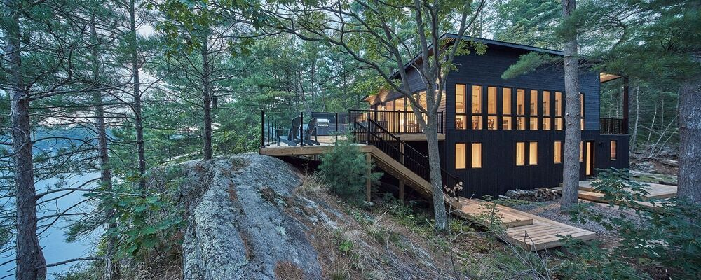 Kahshe Lake Cottage by Solares Architecture