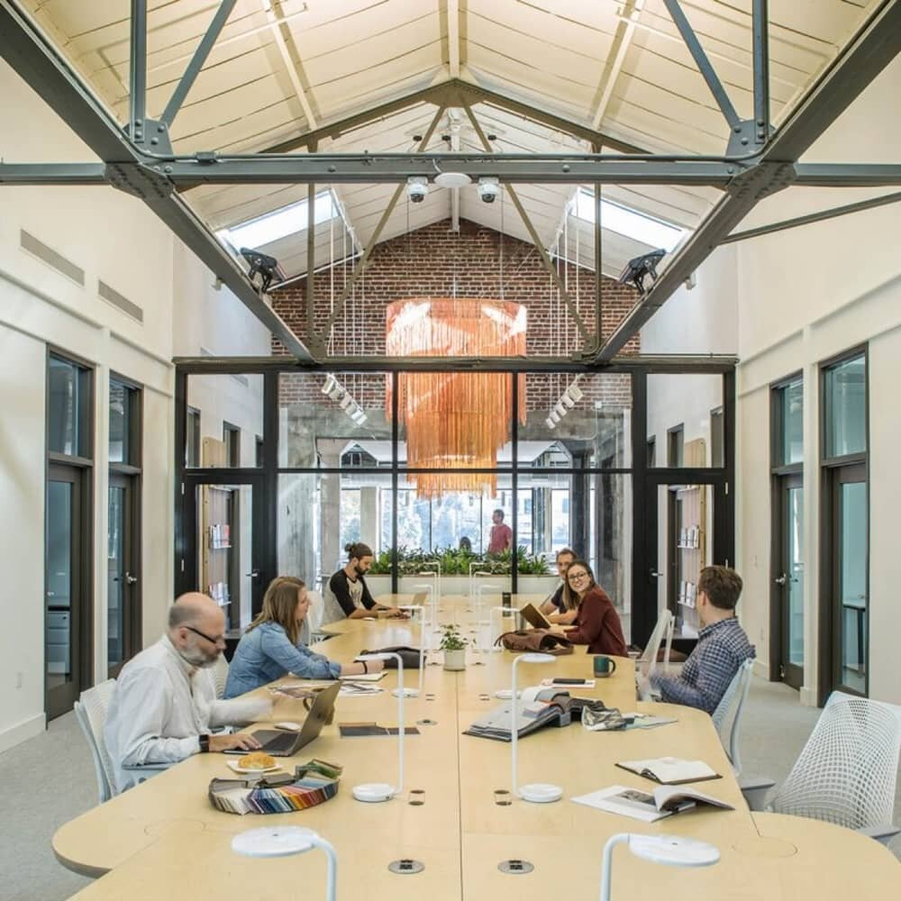 meeting area, A Hub for Creative Collaboration, Samsel Architects