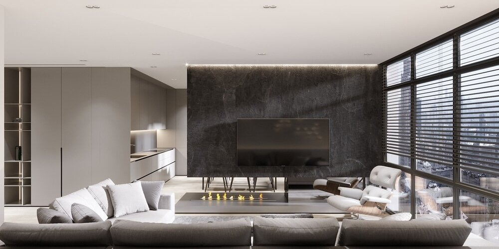 living-room, MONO Architects