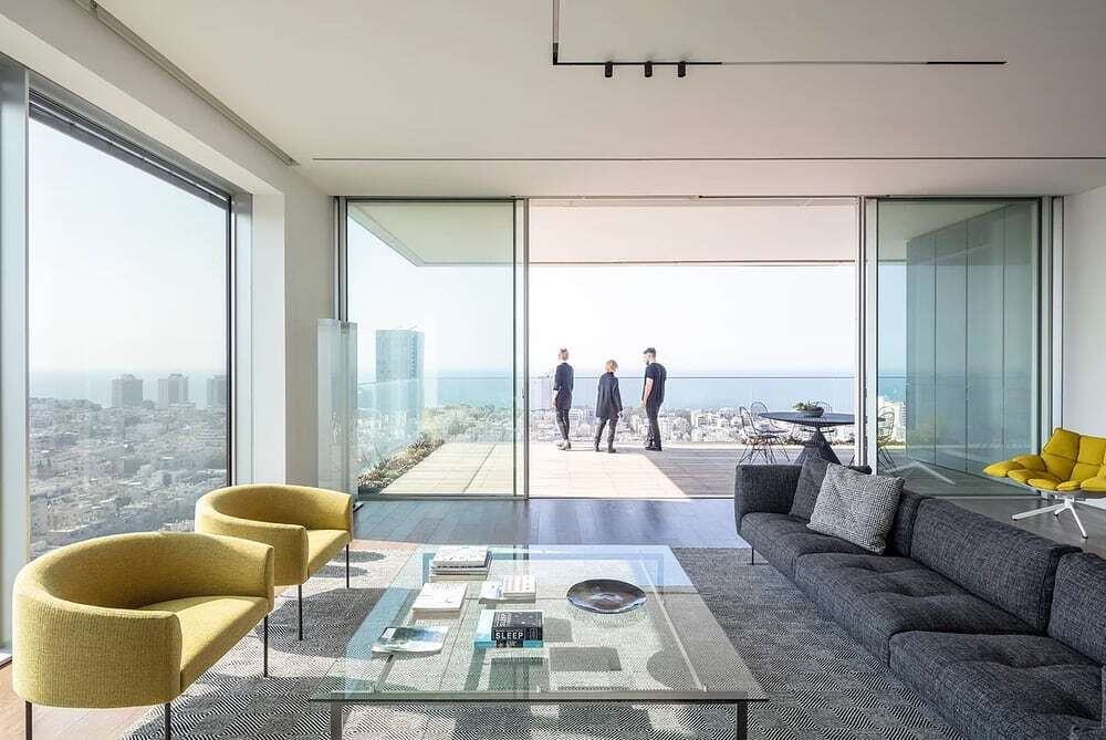 living room, Axelrod Architects