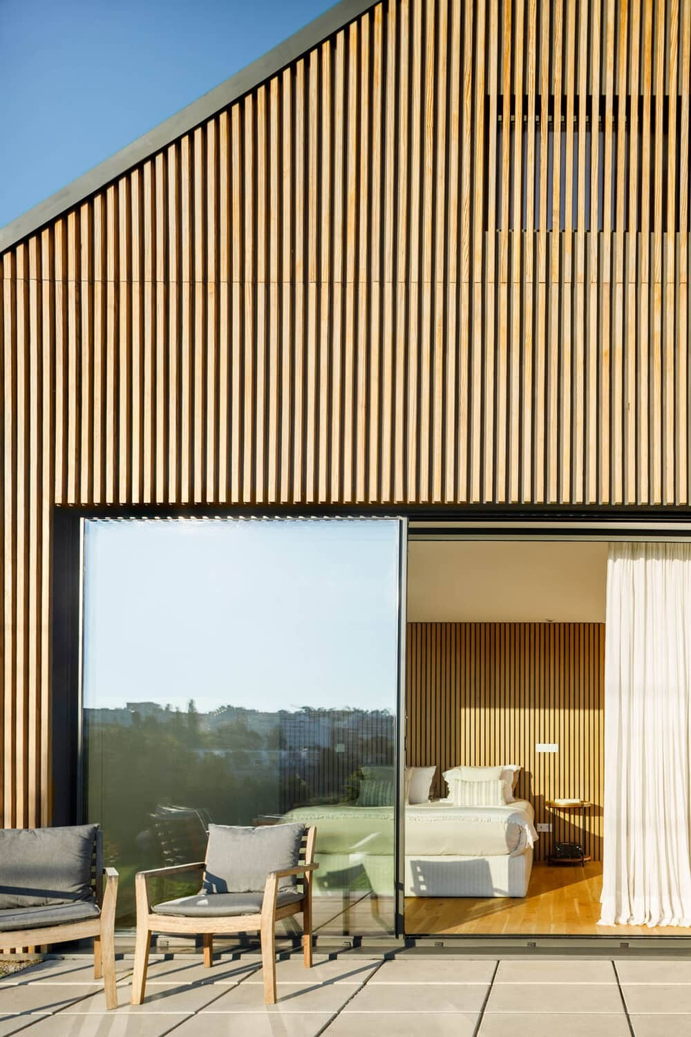 terrace, bedroom, Hous3 architects