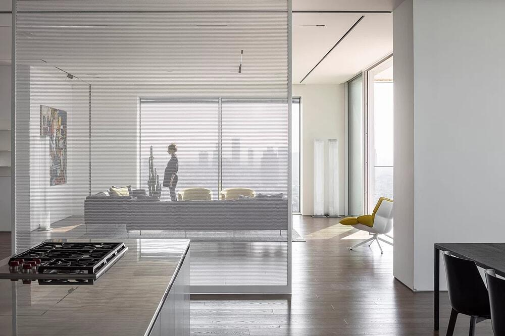 White Screens Apartment by Axelrod Architects
