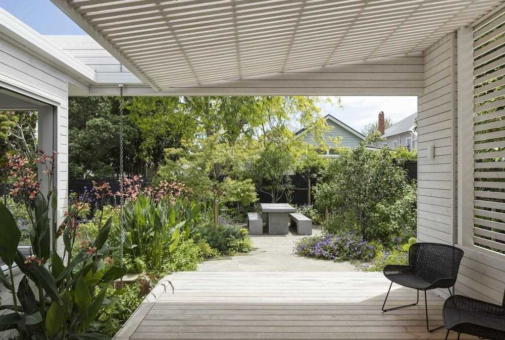 covered terrace, Strachan Group Architects