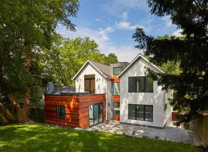 Architect Connects Two Gabled Volumes, Separating Public & Private Functions of this DC Home