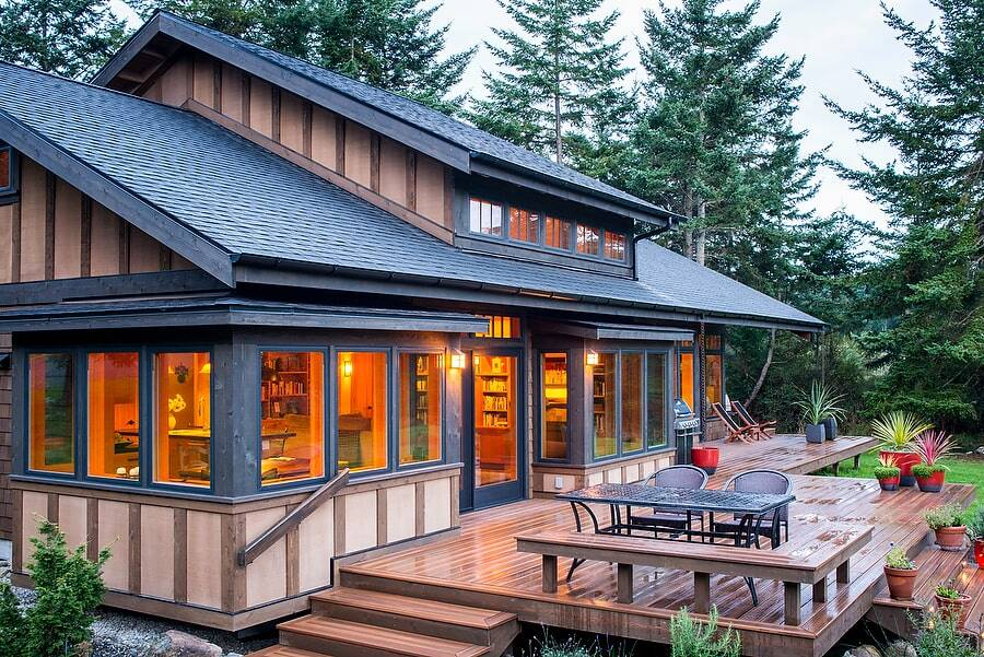A Pacific Northwest Retreat on a Lovely Rural Property with Low-Bank Waterfront