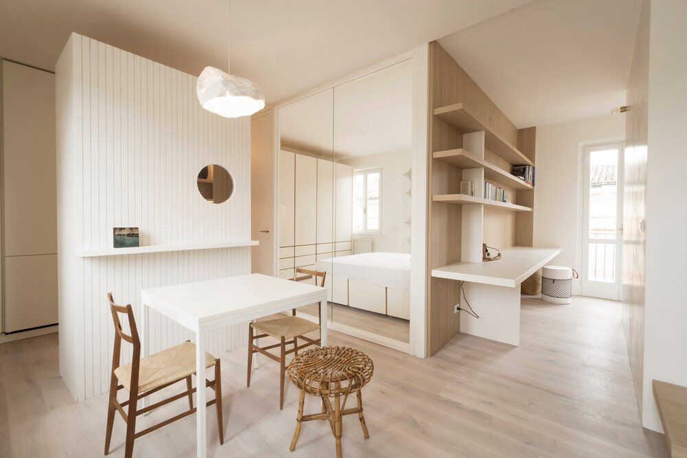 Small Apartment Restored by Archiplan Studio in Mantova, Italy