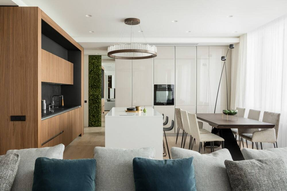 Interior of an Apartment in Residential Complex 'Nasledie', Moscow