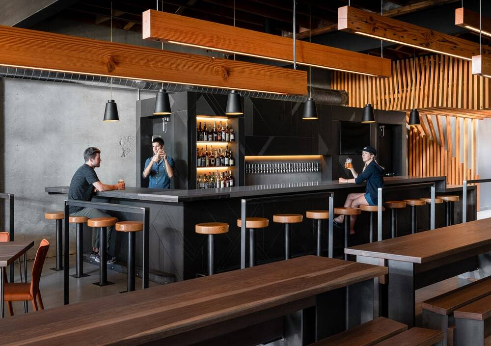 Leftcraft, a New Taproom in Edmonds, Washington by Graham Baba Architects