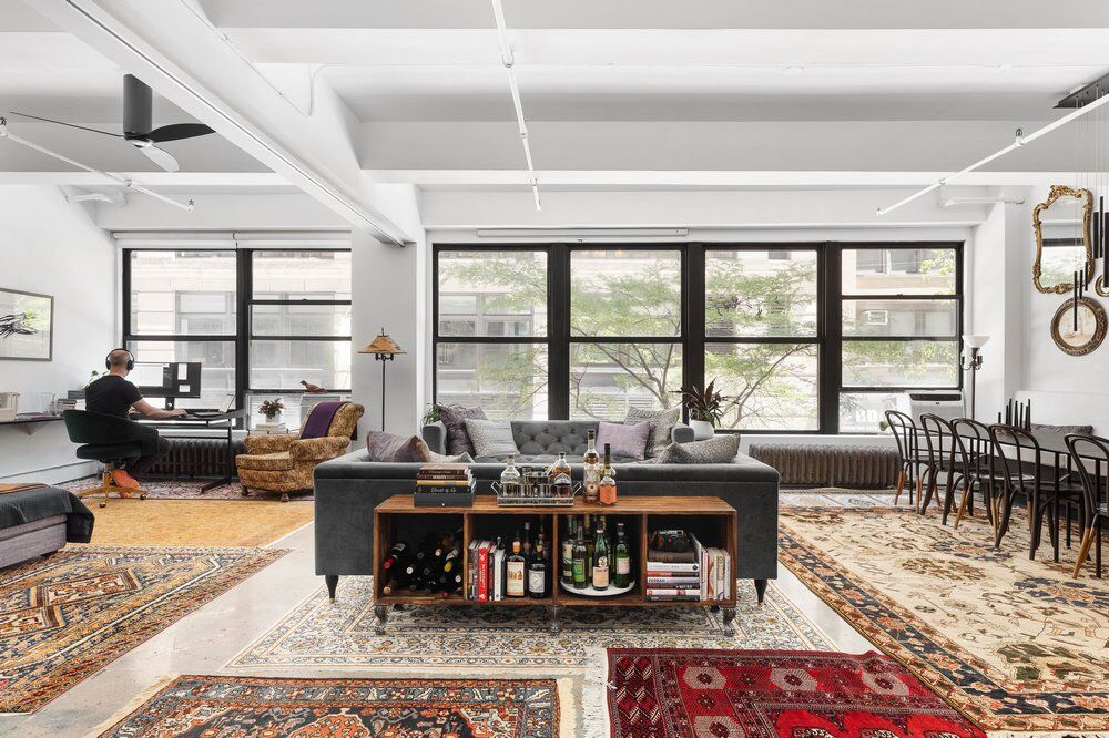 A Former Commercial Loft Converted into a Welcoming Home